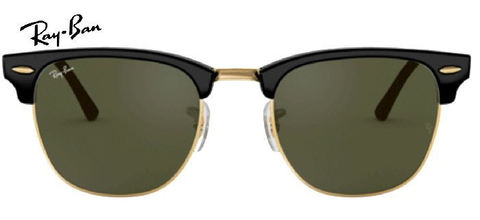 Ray-Ban CLUBMASTER 0RB3016 W0365 EBONY/ ARISTA