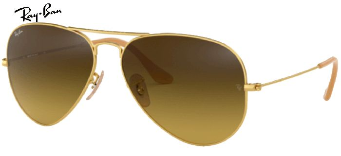 Ray-Ban 0RB3025 AVIATOR 112/85 T55