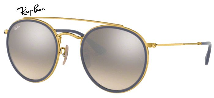 Lunette de soleil ray-ban round double bridge 0RB 3647 001/9U