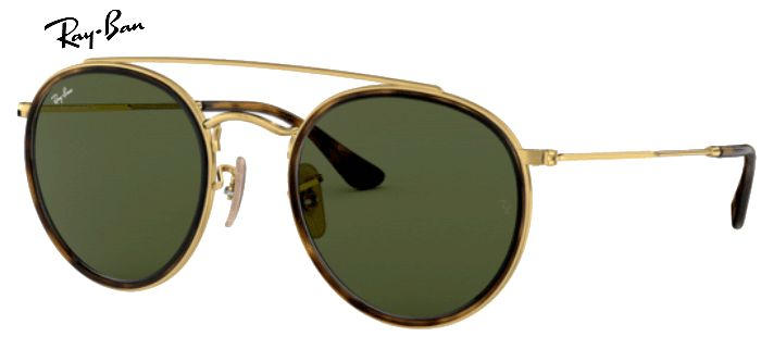 Lunette de soleil ray-ban round double bridge 0RB 3647 001