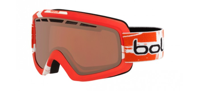 Masque de ski bolle nova 11 matte switzerland limited edition vermillon gun 21692