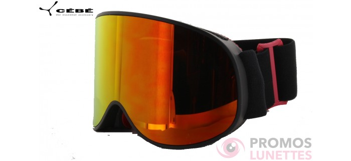 Masque de ski cebe attraction matt black red CBG173