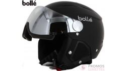 Casque de ski bolle backline visor soft black & silver with 1 silver gun visor + 1 lemon visor 56-58 31155
