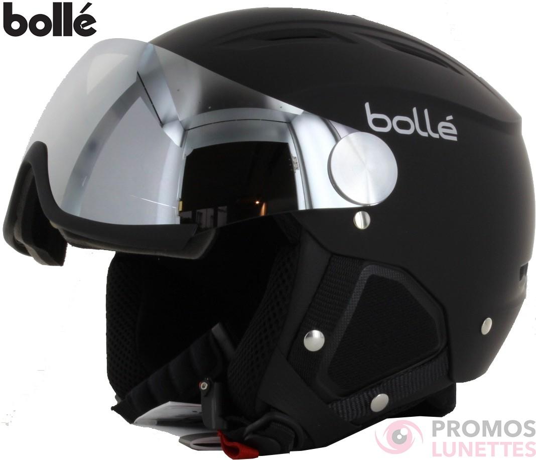 Casque de ski bolle backline visor soft black   silver with 1 silver gun  visor + 1 lemon visor 56-58 31155 - PromosLunettes f5d0c9edf74