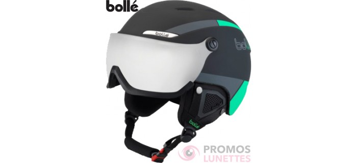 Casque de ski bolle b-yond visor black & green with silver gun visor cat 3 58-61 cm 31486