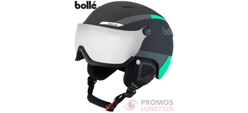 Casque de ski bolle b-yond visor black & green with silver gun visor cat 3 58-61 cm 31486