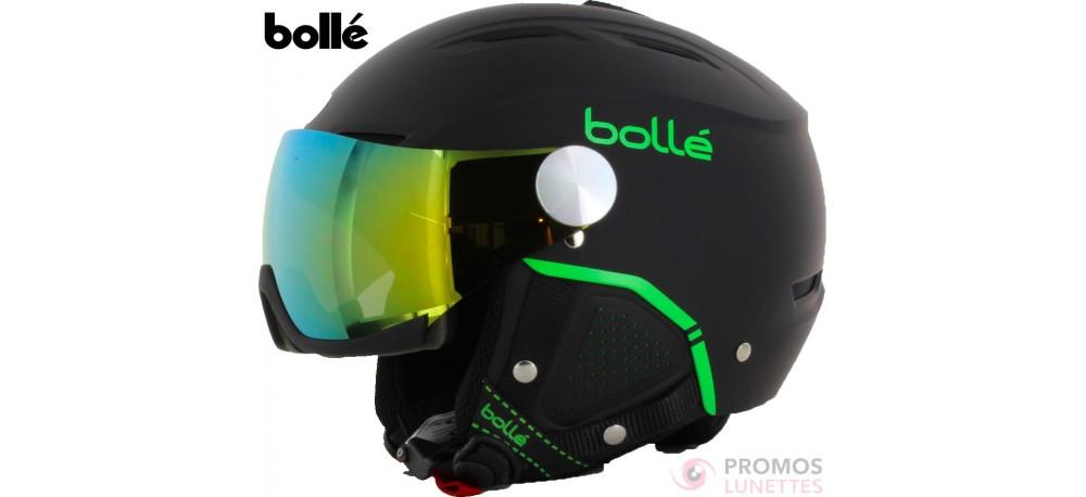casque de ski bolle backline noir et vert promoslunettes. Black Bedroom Furniture Sets. Home Design Ideas