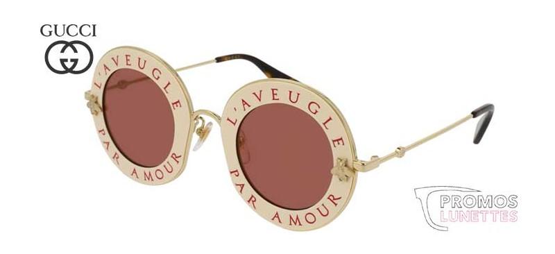 Lunettes de soleil Gucci L aveugle par amour GG0113S-002 - PromosLunettes f4f2618a4bdd