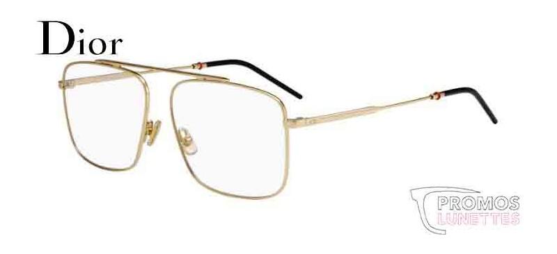 82cfa8696e2e91 Lunette de vue Dior 0220 J5G - GOLD - PromosLunettes