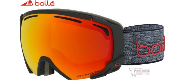 Masque de ski Bollé Supreme OTG Dark Grey Red