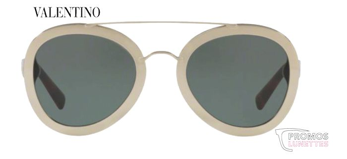 Lunette de soleil Valentino light gold smoke green VA4014 503771 58