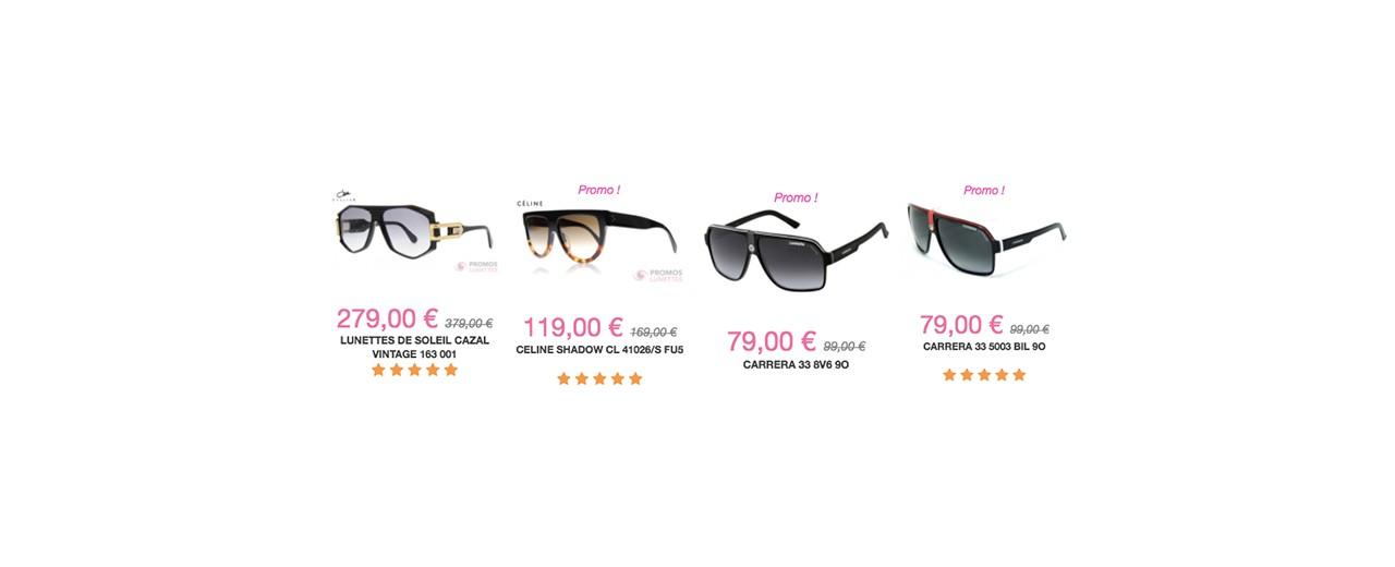 8b9011db08 PromosLunettes | Soldes lunettes de soleil : Top départ pour 1 mois ...